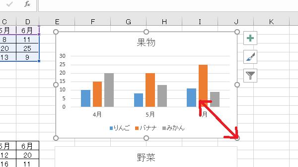 VBAグラフ大きさ変更