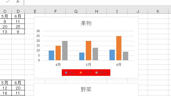 VBAグラフ凡例背景色