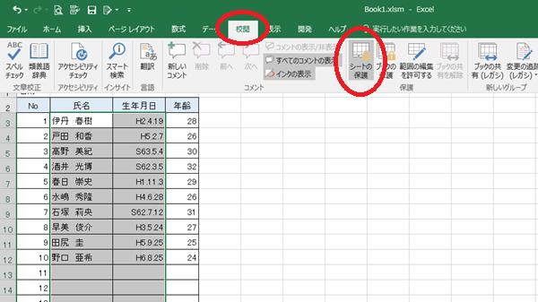 Excel保護
