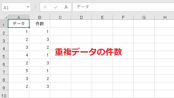 Excel重複データ