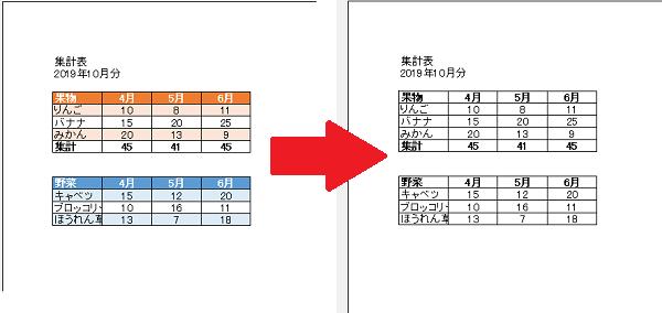 Excel白黒印刷