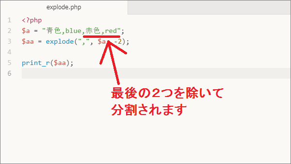 PHP explode